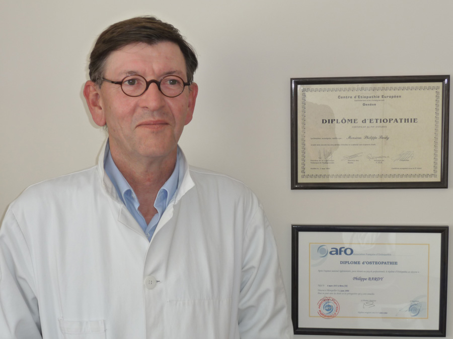 Philippe bardy - bois guillaume - parcours et formation osteopathe